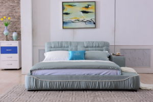 China Foshan OEM Bedroom Furniture Modern Design Soft Fabric Bed pictures & photos