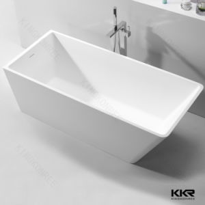 High Quality Polished Solid Surface Freestanding Bathtub pictures & photos