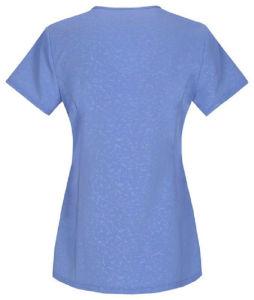 2017 Wholesale Slim Fit V Neck Blue Hospital Uniform (A605) pictures & photos