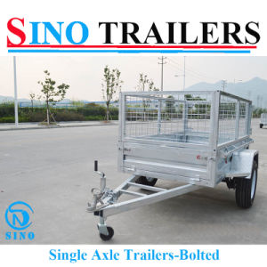 Hot Selling Bolted Single Axle Box Trailer pictures & photos