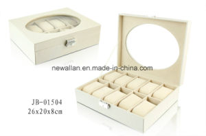 Elegant Packaging Gift Box PU Leather Watch Box Watch Case Wooden Box pictures & photos
