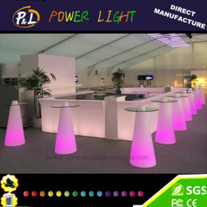 Event Party Plastic Cocktail Table LED Poseur Table pictures & photos