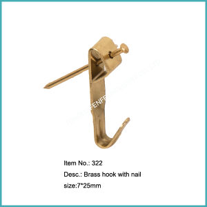 Quality Brass Plated Standard Picture Hooks (322-325) pictures & photos