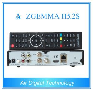 Best Factory Price for Zgemma H5.2s FTA Satellite Receiver&Decoder Dual Core Linux OS E2 DVB-S2+S2 Twin Tuners with H. 265/Hevc pictures & photos