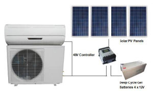 DC 48V Split 100% Solar Air Conditioner for Home Room pictures & photos