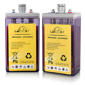 2V 200ah Deep Cycle Flooded Opzs Battery for Solar Energy System pictures & photos