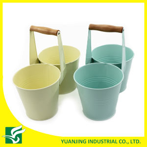 Wholesale Double Garden Flower Pots with Short Handle pictures & photos