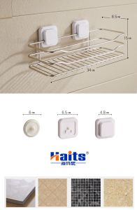 Stainless Steel Suction Cup Square Bathroom Shelf pictures & photos