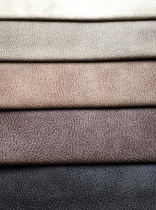 Easy Cleaning Leather Looking Suede Sofa Fabric (K034) pictures & photos