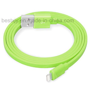 Colorful 5V 2A Noodle Flat TPE Material USB Data Cable for Power Bank Charging pictures & photos