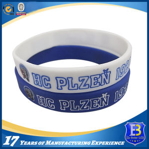 Enamel-Filled Silicone Rubber Wristband for Fashion Show (Ele-WS004) pictures & photos