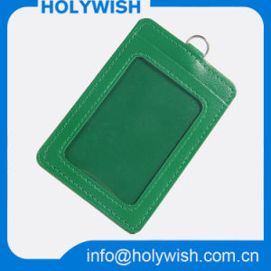 Wholesale Green PU Credit Card Holder and Lanyard pictures & photos