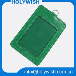 Wholesale Green PU Credit Card Holder and Lanyard