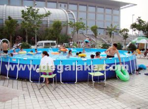 Steel Frame Inflatable Round Swimming Pool for Water Park pictures & photos