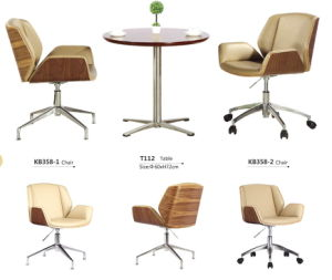 Bended Wood Upholstery Office Chair pictures & photos