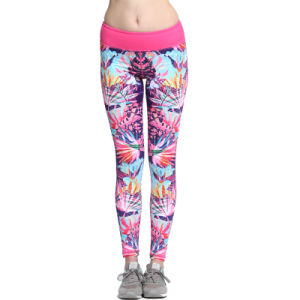 Slimming Women Girl′s Lycra Sublimation Compression Fitness Yoga Leggings pictures & photos