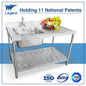 Stainless Steel Sink Bench with Under Shelf pictures & photos