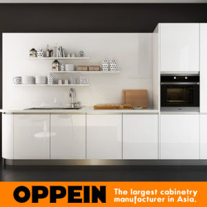 Oppein Hot Sale Modern White Acrylic Galley Small Kitchen (OP16-A03) pictures & photos