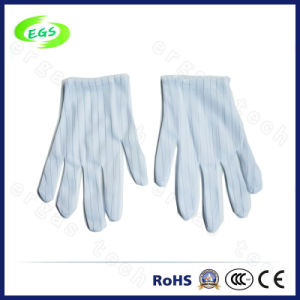 Nylon Antistatic White Glove/ ESD Palm pictures & photos