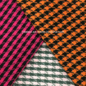 Twill Houndstooth Wool Fabric for Overcoat pictures & photos