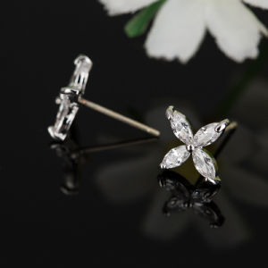 Fashion Imitation Earrings-Cubic Zircon Crystal Stud Ear Jewelry pictures & photos