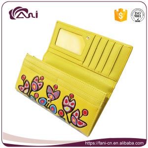 Custom Embossed Wallet, PU Leather Flower Printed Wallet pictures & photos