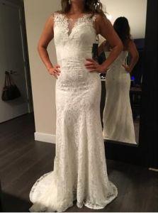 Sheath/Column Sleeveless Full Length Fitting Bridal Wedding Dress 2017 pictures & photos