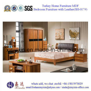 Luxury Hotel King Size Bed Wooden Bedroom Furniture (B701A#) pictures & photos