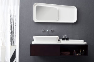 Sanitary Ware Solid Surface Bathroom Wall Hung Basin pictures & photos