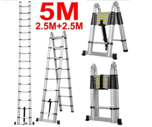 New Aluminum Telescopic Ladder with Double Size pictures & photos