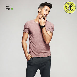 Latest Design 100% Cotton Summer Shirts for Men Pictures Round Neck Short Sleeve T-Shirt pictures & photos