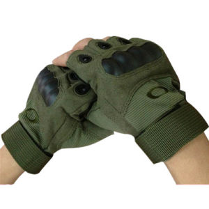 Warm-Keeping Military Multicamo Water-Proof Wild Traning Multicamo Camouflage Tactical Outdoor Bionic Full-Half Finger Sports Travelling Leather Glove pictures & photos