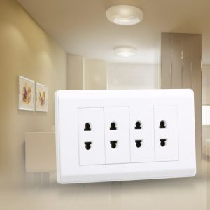 86*146 Type Hot Selling 4gang 2pin Wall Socket pictures & photos