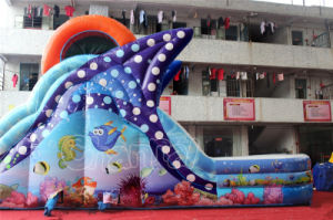 Customized Ocean Theme Inflatable Slide with Swimming Pool pictures & photos