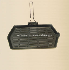 Preseasoned Cast Iron Gill Pan Manufacturer From China pictures & photos