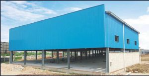 Fabrication Logistics Transfer Station with Steel Frame