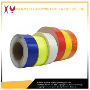 High Visibility Truck Reflective Sticker Vehicle PVC Adhesive Reflective Tape Conspicuity Tape for Road Sign pictures & photos