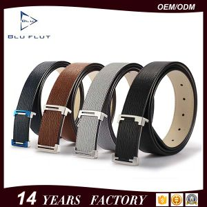 Fashion Men′s Genuine Black Leather Dress Belt pictures & photos