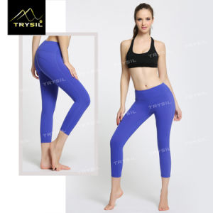 Women Elastic Yoga Capri Pants Tight Leggings pictures & photos
