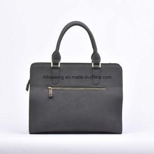 Elegant PU Tote Bag Shoulder Bag with Rivets on Front pictures & photos