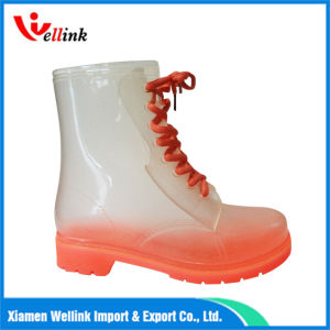 Waterproof Different Color PVC Martin Rain Boot for Momen