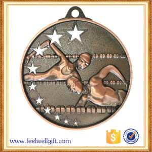 Custom Hot Sell Gold Silver Bronze Sport Swimming Medal pictures & photos