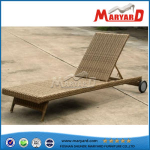 Cheap Outdoor PE Wicker Chaise Lounge Bed pictures & photos