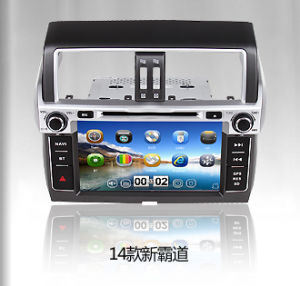 Wince 6.0 Quad Core Car DVD for Toyota New Prado 2014 with Car Stereo 3G RDS TV iPod Multimedia