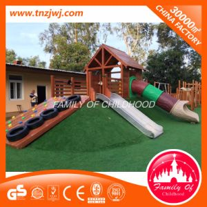 Preschool Outdoor Wooden and Stainless Steel Material Playground Equipment pictures & photos