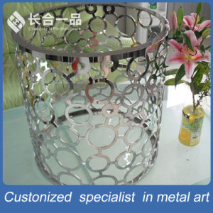 Factory Manufacture Silver Gray Column Stainless Steel Table Furniture pictures & photos