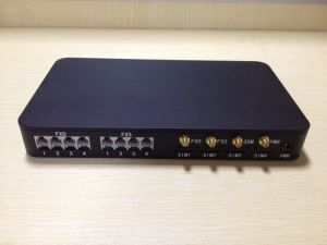 Etross 4 Ports Analog GSM Gateway with 4 FXS and 4 PSTN FXO pictures & photos