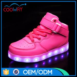 2017 New Style Leisure Shoes Changeable Colorful Light up Shoes