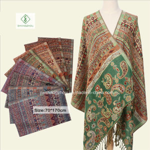 Nepal Style Fashion Cashew Jacquard Scarf Long Pashmina Shawl pictures & photos
