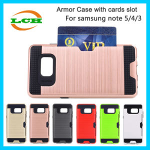 Shockproof Armor Cards Slot Phone Cases for Samsung Note 5/4/3 pictures & photos